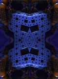 Fractal fyra gör den abstrakta geometriska composition--3dtolkningen Royaltyfri Foto