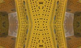 Fractal fyra gör den abstrakta geometriska composition--3dtolkningen Royaltyfria Bilder