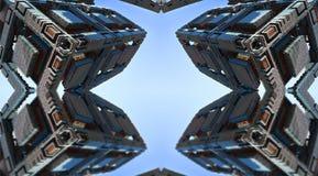 Fractal fyra gör den abstrakta geometriska composition--3dtolkningen vektor illustrationer