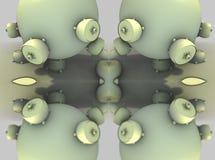 Fractal fyra gör den abstrakta geometriska composition--3dtolkningen Royaltyfri Fotografi
