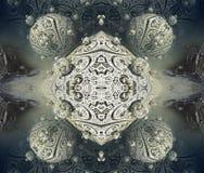 Fractal fyra gör den abstrakta geometriska composition--3dtolkningen Arkivfoto