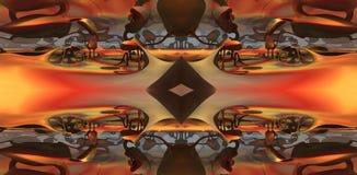 Fractal fyra gör den abstrakta geometriska composition--3dtolkningen Fotografering för Bildbyråer