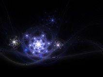 Fractal galaxies in universe Stock Photo