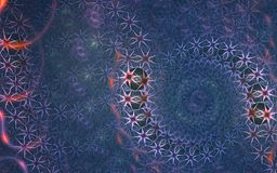 Fractal galaxy background Stock Images