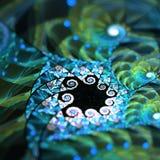 Fractal Gebrandschilderd glas Stock Foto