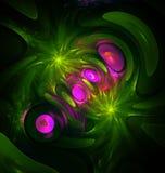 Fractal generado por ordenador de la mitosis Foto de archivo libre de regalías