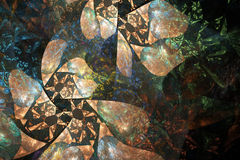 Fractal geométrico de la flor Imagen de archivo