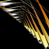 Fractal gold and silver background. With copy space Stock Images