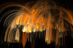 Fractal gold spray Royalty Free Stock Images