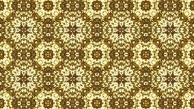 Fractal gold texture kaleidoscopic seamless background stock illustration