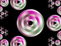 Fractal graphic pattern. Colorful circles. Royalty Free Stock Images