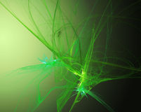Fractal green background. Abstract 3D fractal green background Royalty Free Stock Photography