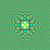 Fractal Green Print tiled Stock Photo
