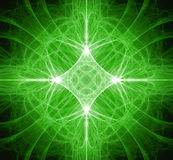 Fractal Green Star Royalty Free Stock Photos