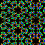 Fractal groene patroon vectorbloemblaadjes Stock Afbeelding