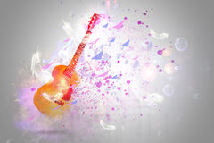 Fractal guitar fantasy with lights and bubbles Stock Photo