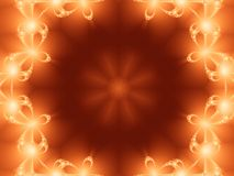 Fractal Halo. Orange and Red Fractal Halo Royalty Free Stock Image
