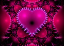 Fractal Heart. Fractal rendering of a heart pattern stock illustration