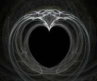 Fractal with heart. On a black background Royalty Free Stock Images