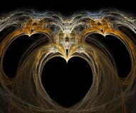 Fractal with heart. On a black background Stock Image