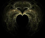 Fractal with heart. On a black background Stock Photo