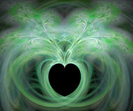 Fractal with heart. On a black background Royalty Free Stock Photos