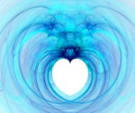 Fractal with heart Stock Photos