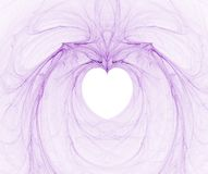 Fractal with heart. On a white background vector illustration