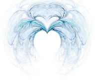 Fractal with heart. On a white background stock illustration