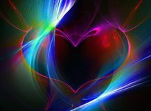Fractal heart. High resolution fractal heart/music/disco theme design royalty free illustration