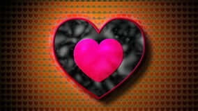 Fractal heart. Love hearts animation motion graphic backgrounds stock footage