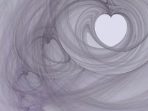 Fractal - Heart smoke Royalty Free Stock Photography