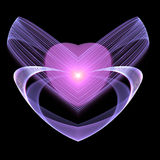 Fractal heart, Valentine theme. Digital artwork for creative graphic design Royalty Free Stock Photography