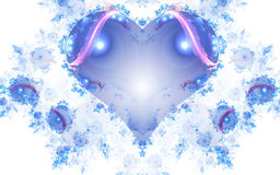 Fractal heart on white background Royalty Free Stock Photo