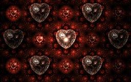 Fractal hearts pattern. Elegant and stylish valentine`s day design Vector Illustration