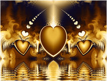 Fractal Hearts Pattern Royalty Free Stock Images
