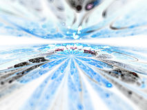 Fractal horizon or water scape Royalty Free Stock Photos