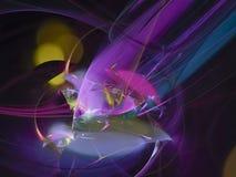 Fractal ideal etéreo brilhante da dinâmica surreal abstrata de Digitas, projeto da textura, caos exclusivo ilustração royalty free