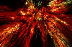 Fractal illustratie van verbranding Royalty-vrije Stock Foto's