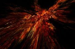 Fractal illustratie van verbranding Stock Afbeelding
