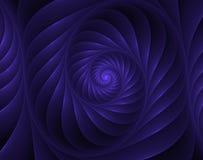 Fractal illustration of a blue spiral Stock Image