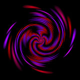 Fractal illustration of colored spiral isolated vector illustration