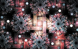 Fractal image : beautiful patterns on a dark background. Stock Photography