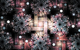 Fractal image : beautiful patterns on a dark background. Royalty Free Stock Photography