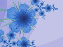 Fractal image,beautiful template for inserting text in blue and purple color. 