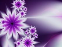 Fractal image,beautiful template for inserting text in blue and purple color. Background with flower. Floral template with place for text. Graphic design for Stock Images