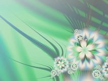 Fractal image,beautiful template for inserting text in green, white color. 