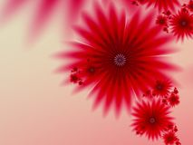 Fractal image,beautiful template for inserting text in red color. 