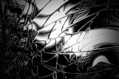Fractal image: a bizarre black and white world. royalty free stock images