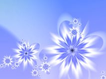 Fractal image. Blue fractal flower, digital artwork for creative graphic design. Template for inserting text Stock Photos